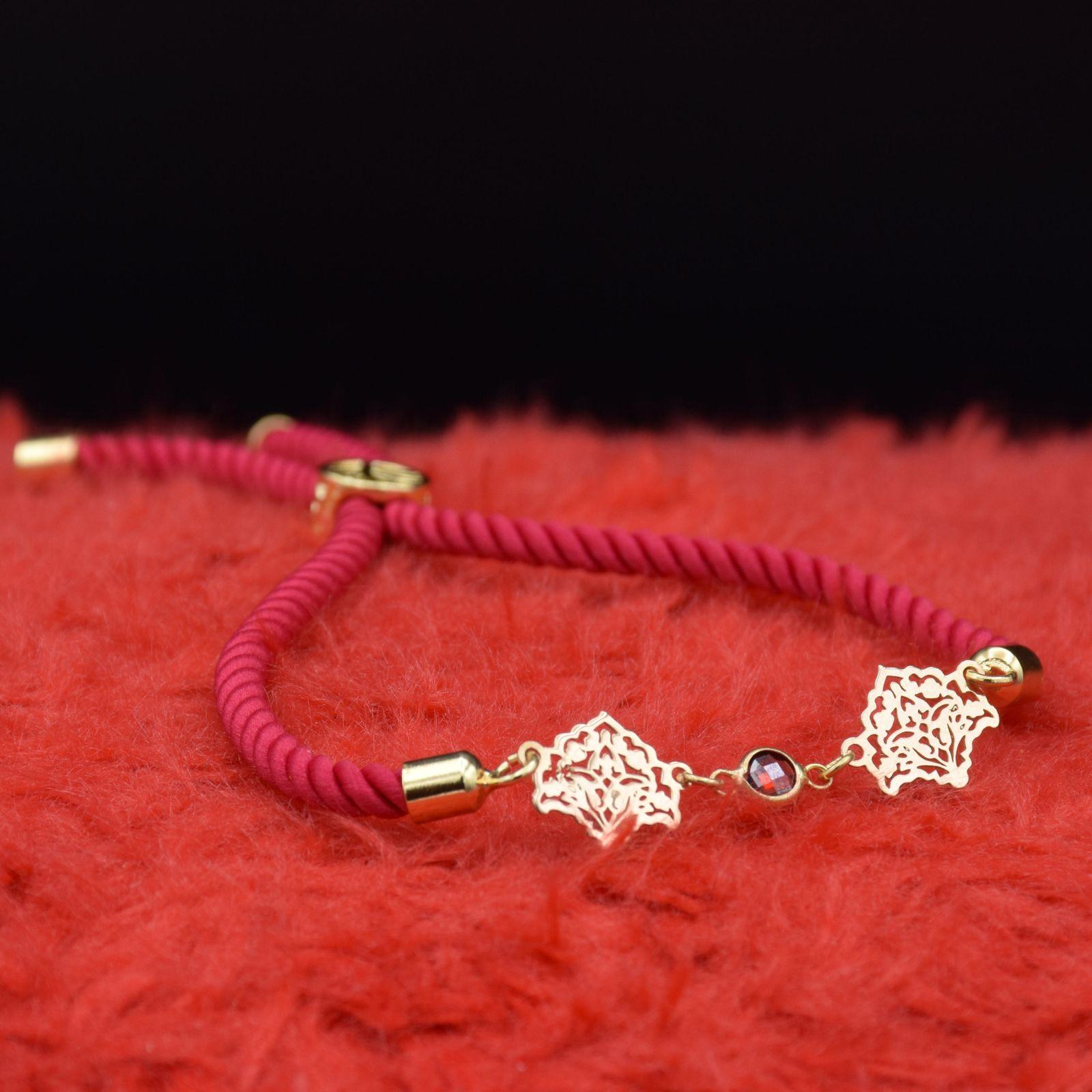 دستبند طلا 18 عیار زنانه آمانژ طرح اسلیمی کد 912D3389 -  - 1