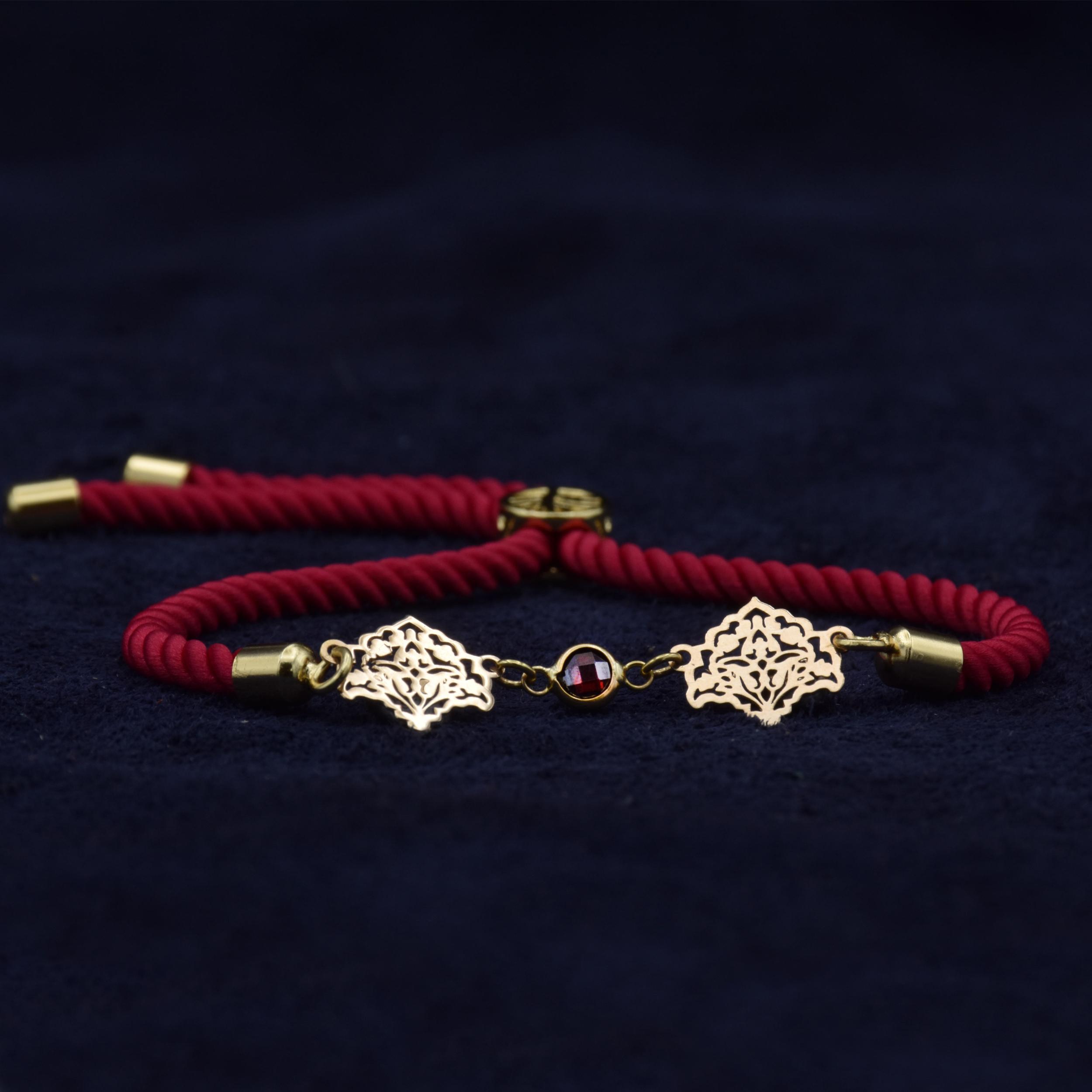 دستبند طلا 18 عیار زنانه آمانژ طرح اسلیمی کد 912D3389 -  - 4