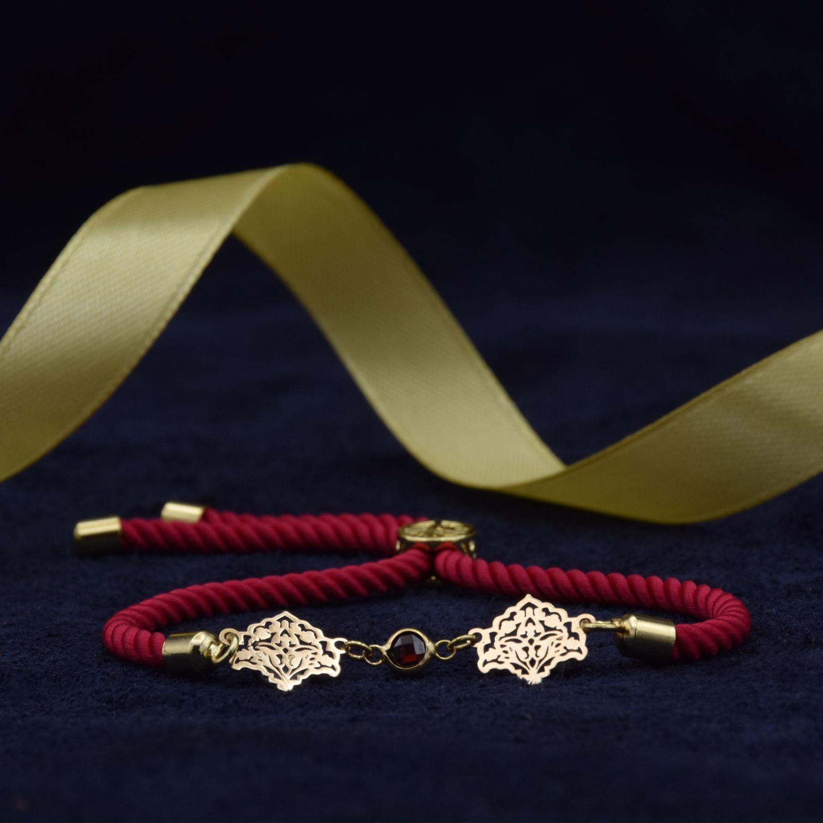 دستبند طلا 18 عیار زنانه آمانژ طرح اسلیمی کد 912D3389 -  - 5