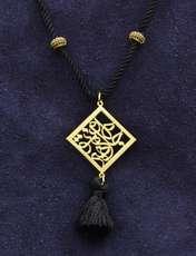 گردنبند طلا 18 عیار زنانه آمانژ طرح شعر کد 919D8890 -  - 1