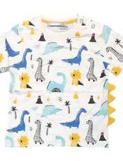 ست تی شرت و شلوارک پسرانه طرح دایناسور کد 2041 -  - 2