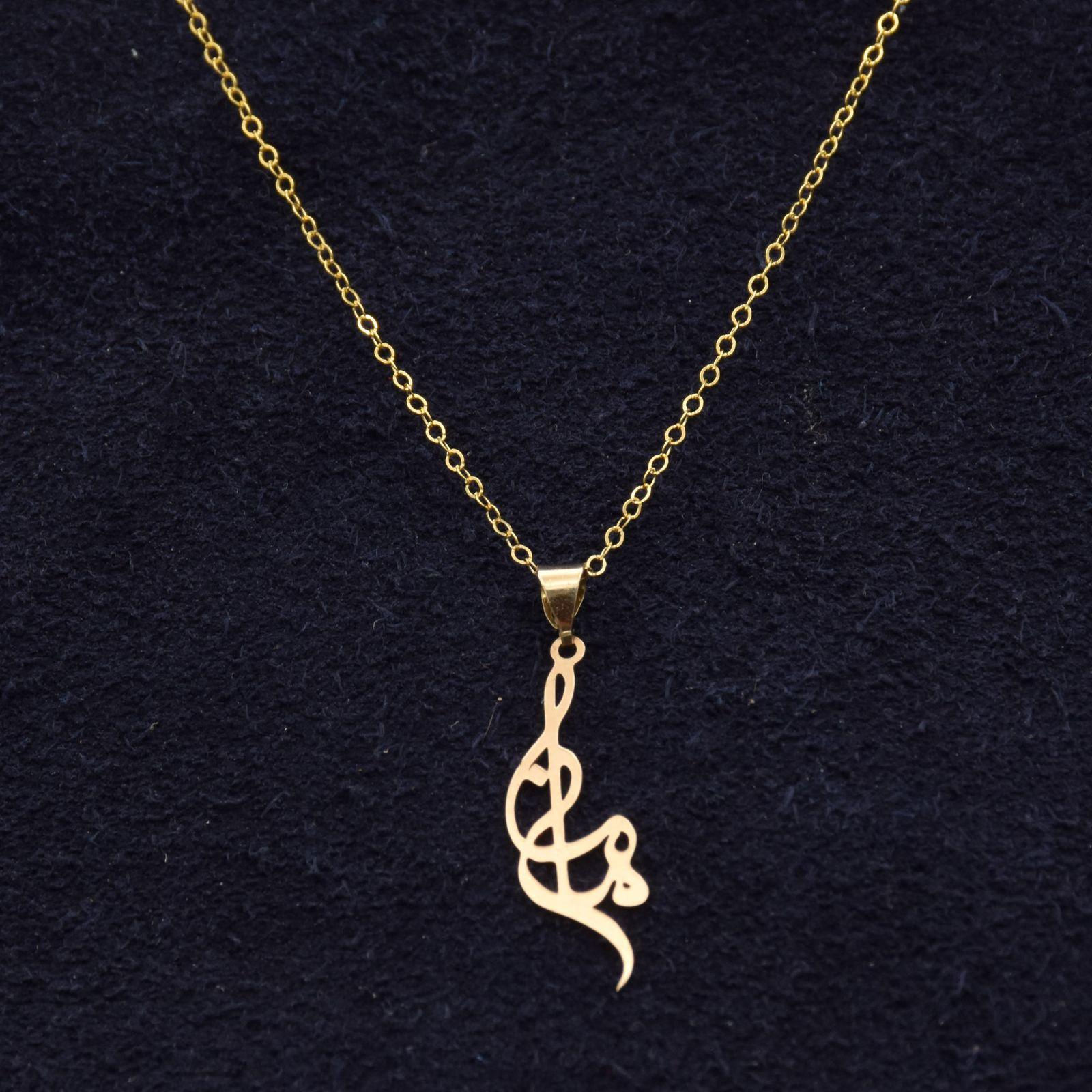 گردنبند طلا 18 عیار زنانه آمانژ طرح مامان کد 933D8893 -  - 1