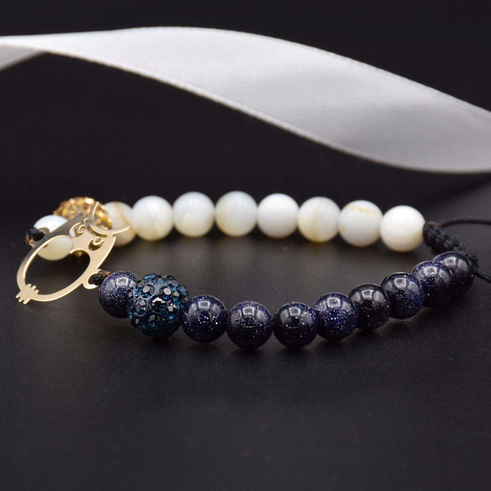 دستبند طلا 18 عیار زنانه آمانژ طرح جغد کد 943D8897 -  - 2