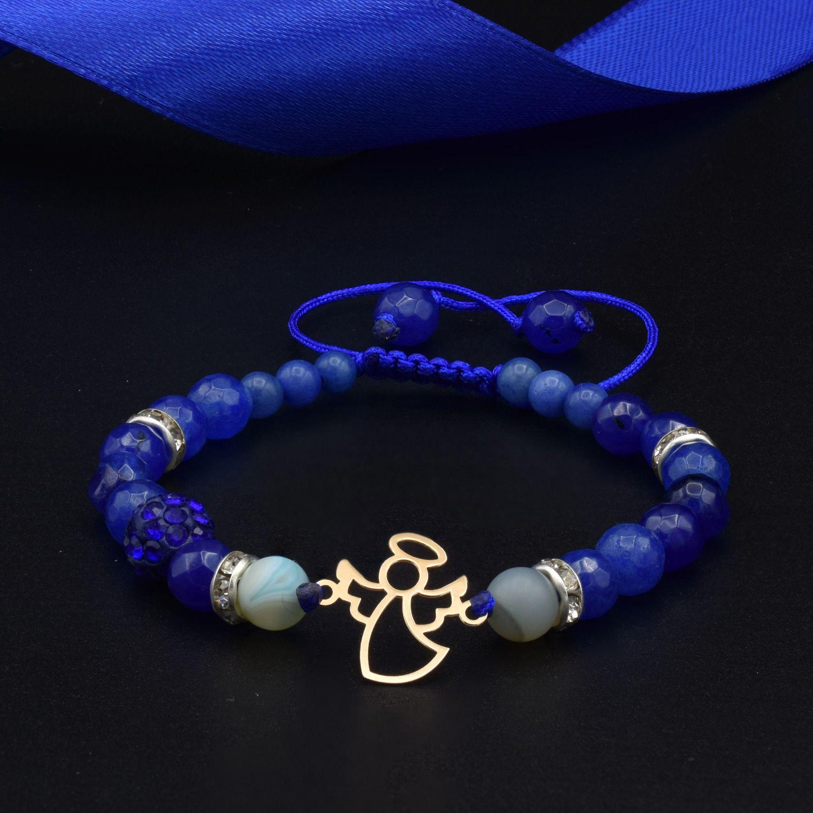 دستبند طلا 18 عیار زنانه آمانژ طرح فرشته کد 945D8898 -  - 1