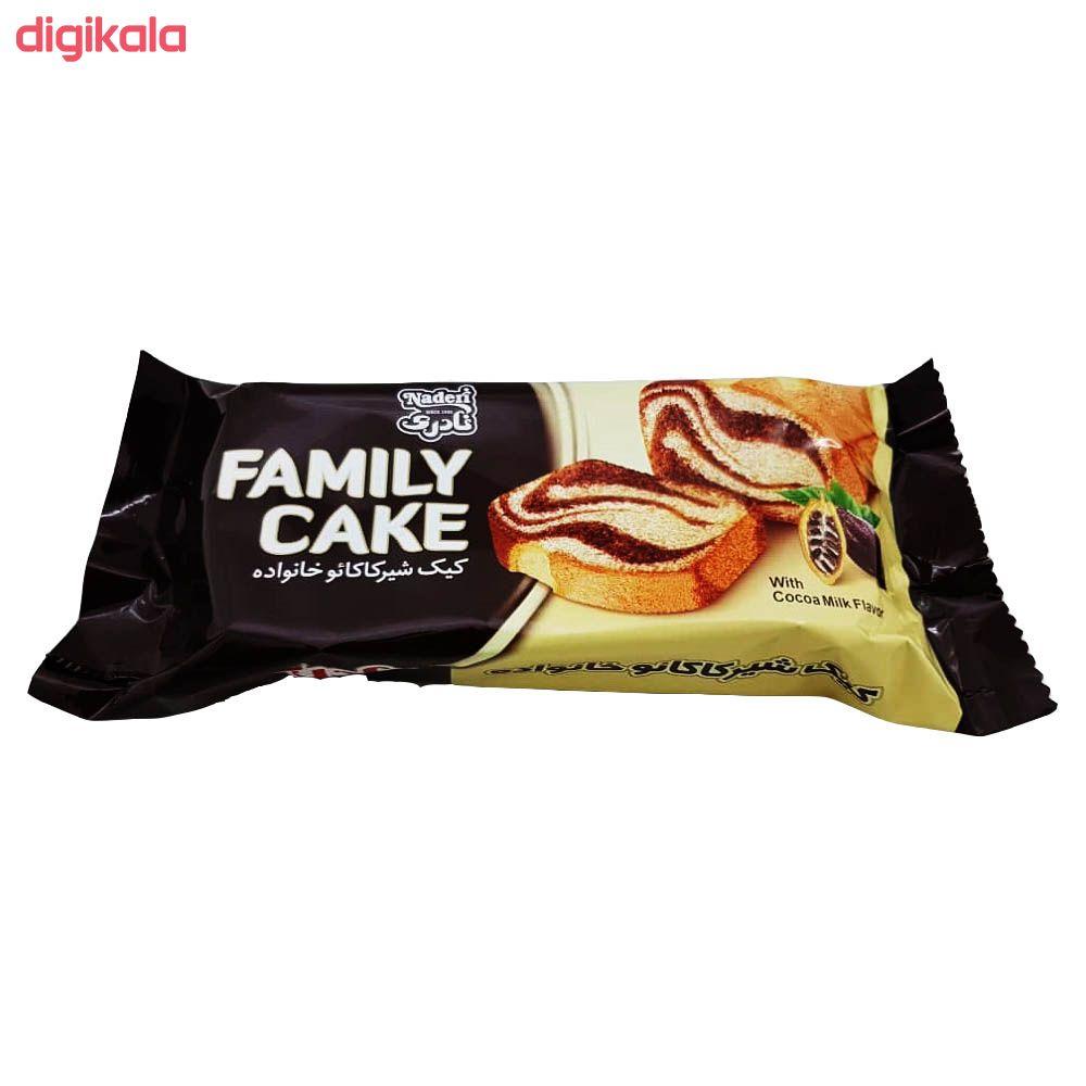 کیک شیر کاکائو خانواده نادری - 400 گرم بسته 16 عددی main 1 2