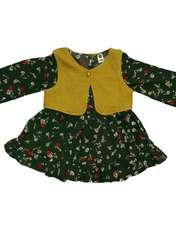 ست پیراهن و جلیقه نوزادی دخترانه کد ۰۰۱ -  - 1