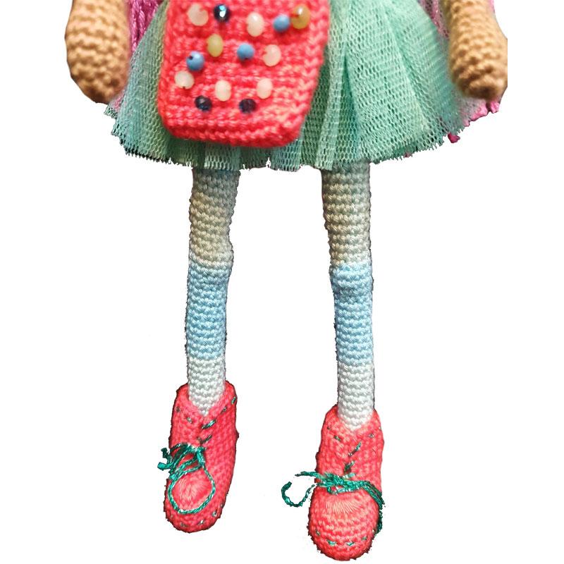 خرید                      عروسک بافتنی مدل سالی