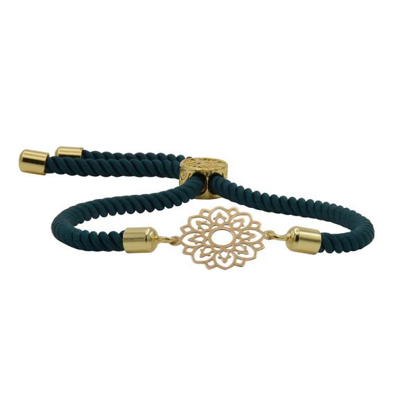 دستبند طلا 18 عیار زنانه آمانژ طرح اسلیمی کد 947D8900