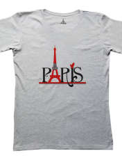 تی شرت مردانه به رسم طرح پاریس کد 2276 -  - 1
