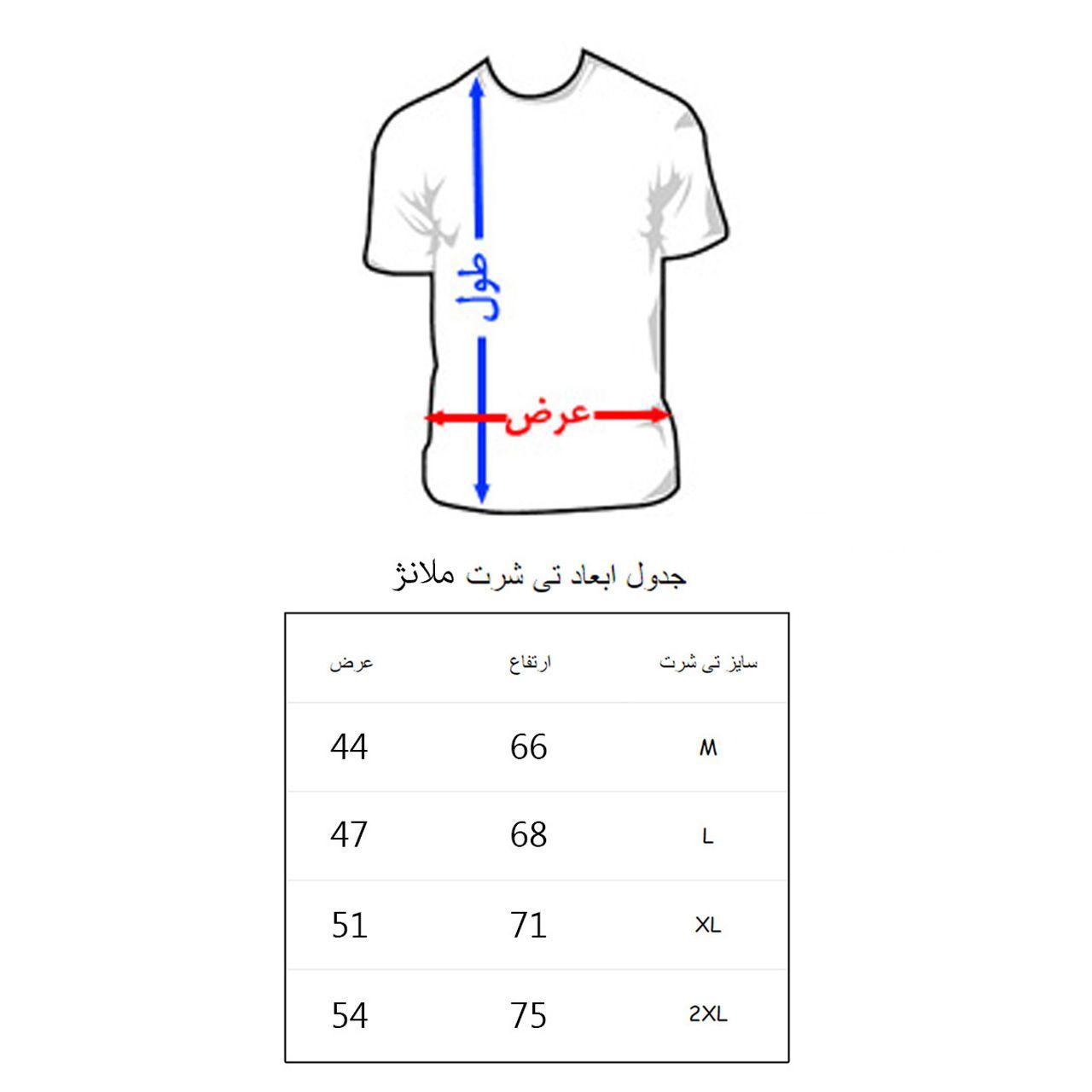 تی شرت مردانه به رسم طرح پاریس کد 2276 -  - 2