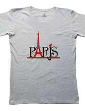 تی شرت زنانه به رسم طرح پاریس کد 4476 -  - 3