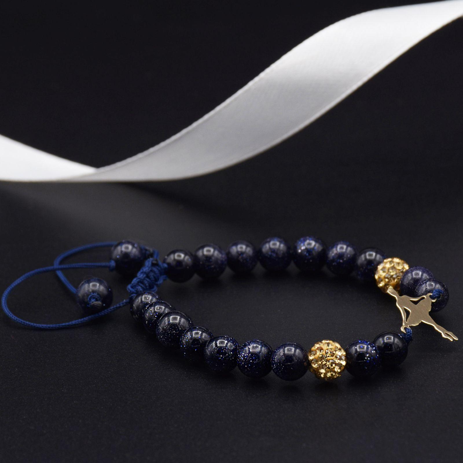 دستبند طلا 18 عیار زنانه آمانژ طرح بالرین کد 955D8902 -  - 2