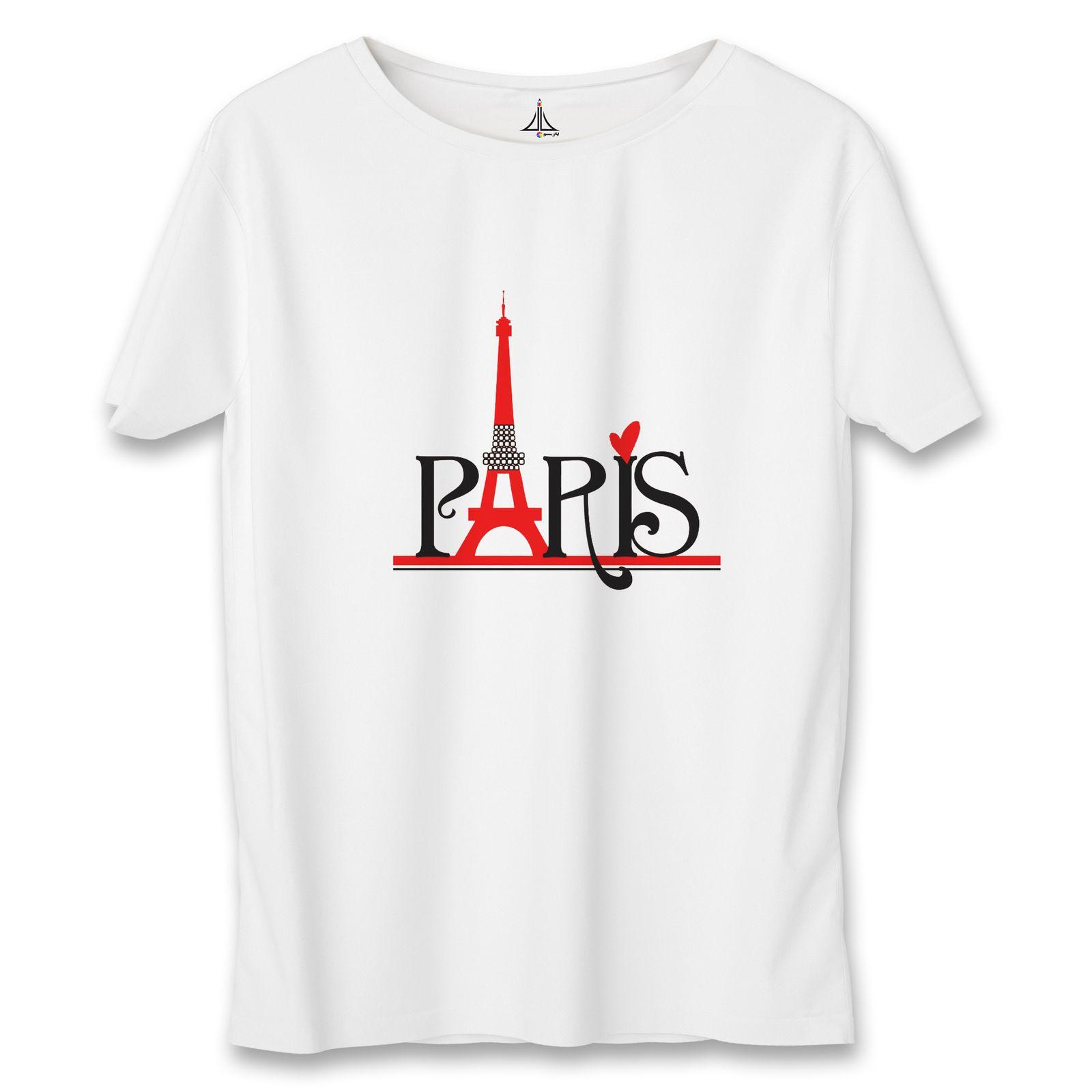 تی شرت مردانه به رسم طرح پاریس کد 3376 -  - 5