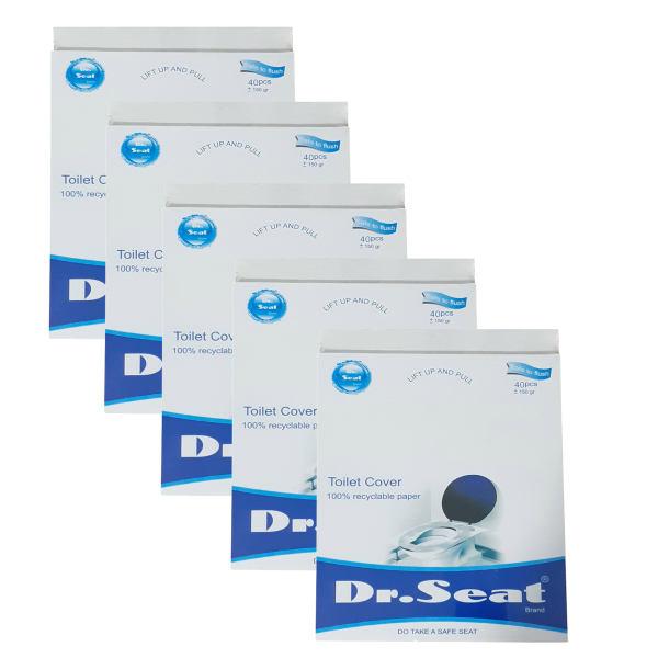 روکش یکبار مصرف توالت فرنگی دکتر سیت مدل 169_Travel Pack بسته 5 عددی