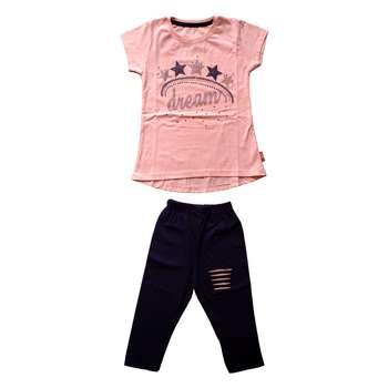 ست تی شرت و شلوارک دخترانه کد S-1004