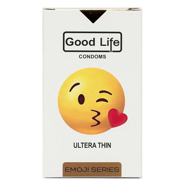 کاندوم گودلایف سری ایموجی مدل Ultera Thin بسته 6 عددی