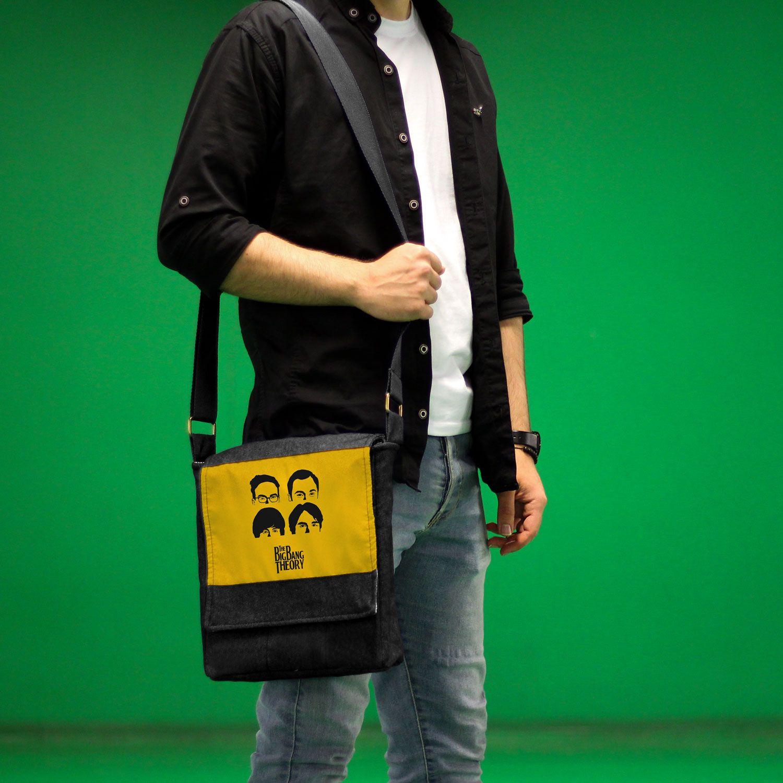 کیف دوشی چی چاپ طرح Big Bang Theory کد 65625 -  - 5