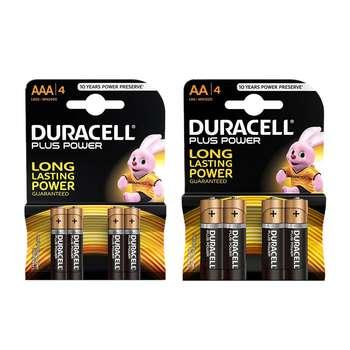 باتری قلمی و نیم قلمی دوراسل مدل Plus Power Duralock بسته 8 عددی