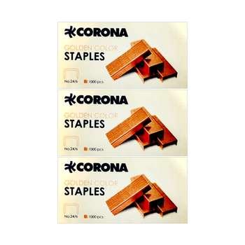 سوزن منگنه کرونا مدل 3021 سایز 24/6 بسته 3 عددی
