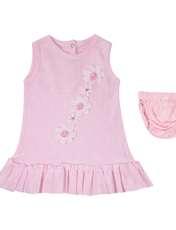 ست پیراهن و شورت نوزادی دخترانه کد 005402 -  - 1