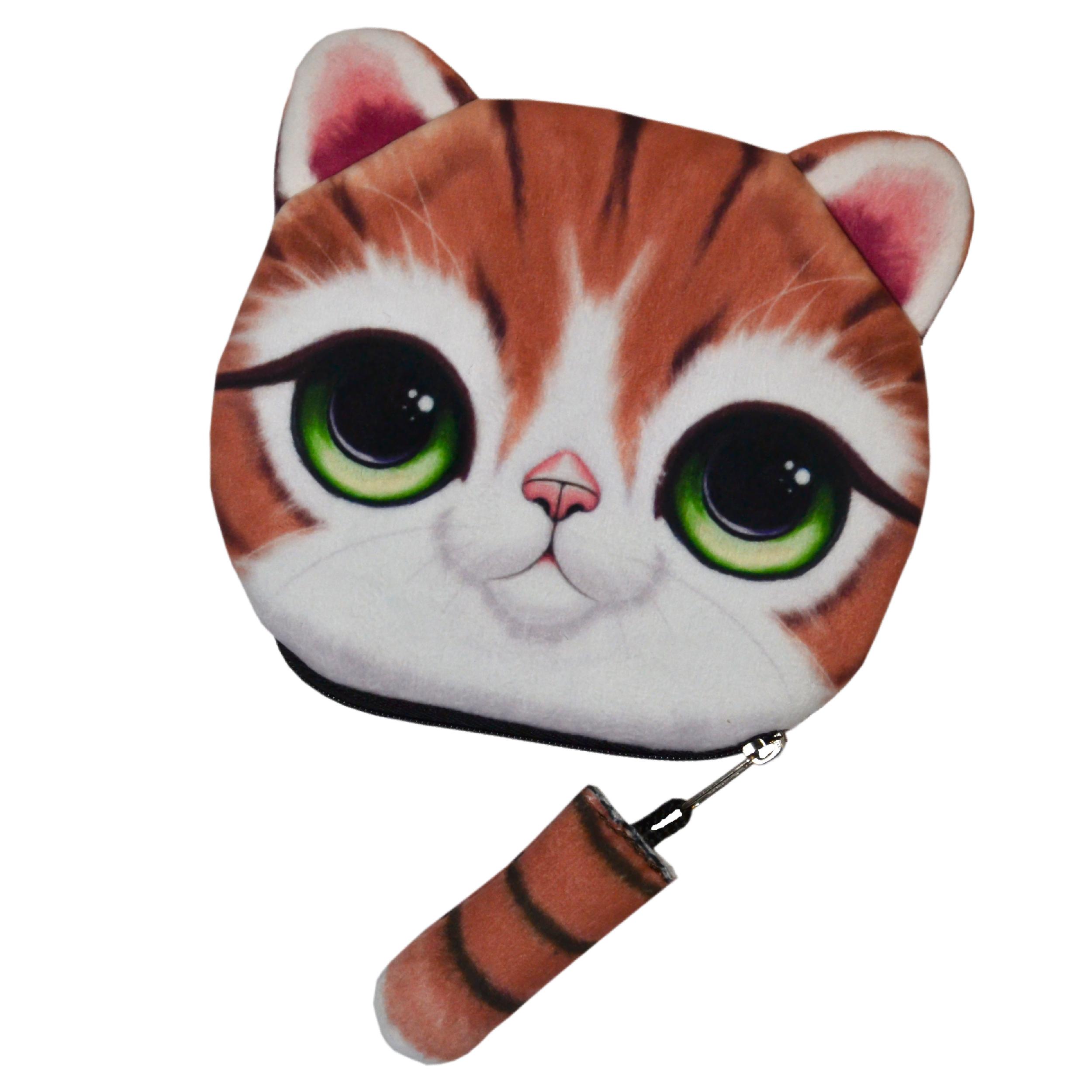 کیف پول دخترانه طرح گربه مدل C-11LBR