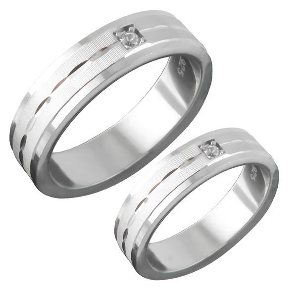 ست انگشتر نقره زنانه و مردانه کد AS052