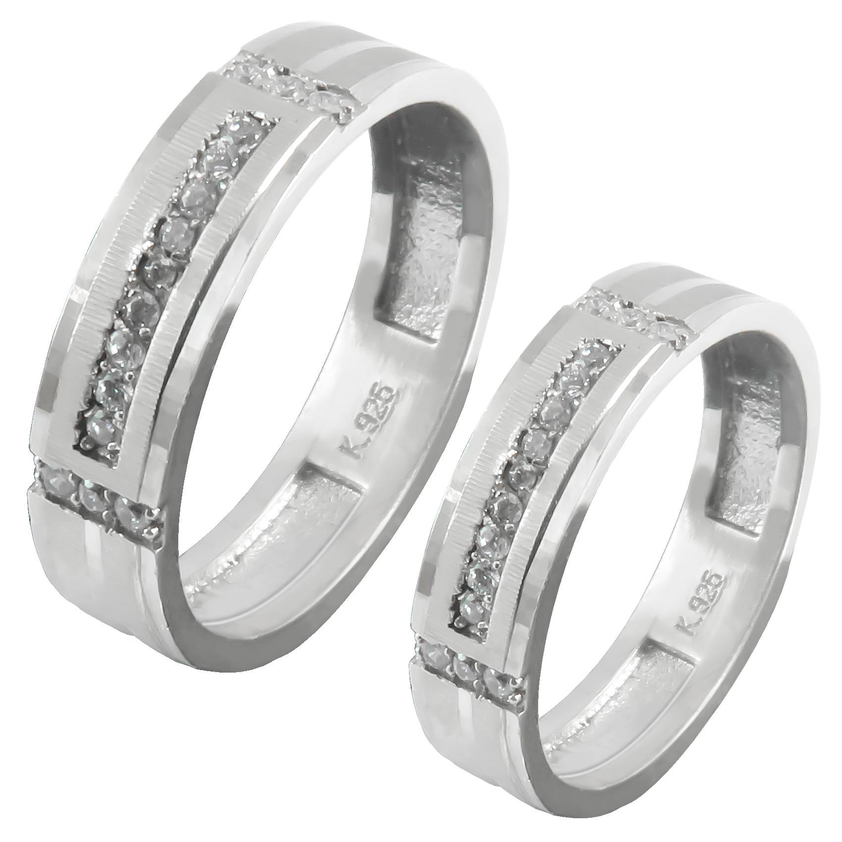 ست انگشتر نقره زنانه و مردانه کد AS054