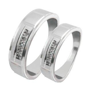 ست انگشتر نقره زنانه و مردانه کد AS050