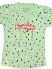 ست تی شرت و شلوارک دخترانه کد ARTIGRN1 -  - 2