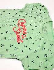 ست تی شرت و شلوارک دخترانه کد ARTIGRN1 -  - 1