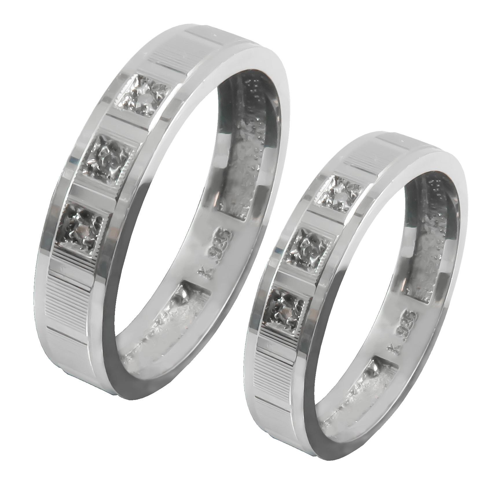 ست انگشتر نقره زنانه و مردانه کد AS055