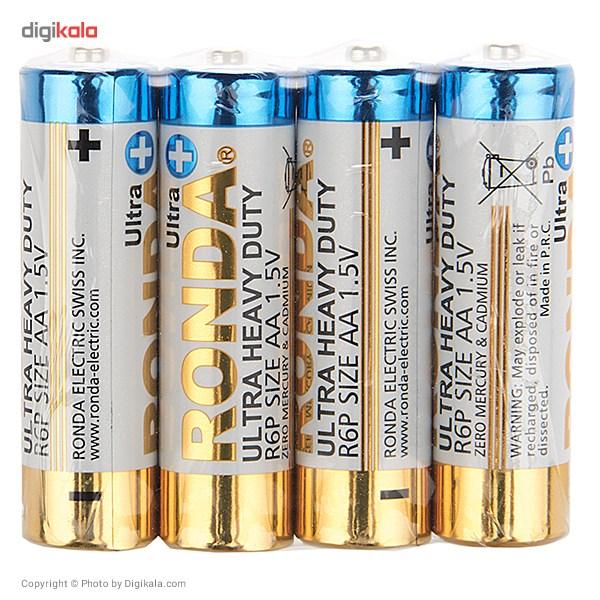 باتری قلمی روندا مدل Ultra Plus Ultra Heavy Duty بسته 4 عددی