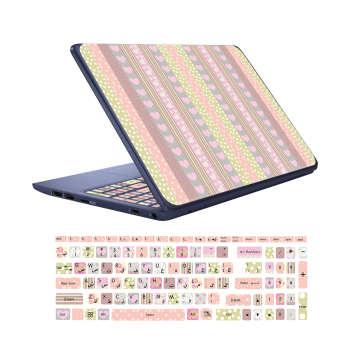 استیکر لپ تاپ کد F-01 به همراه برچسب حروف فارسی کیبورد