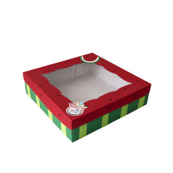 جعبه هدیه جعبه های رنگی رنگی توپک طرح هندوانه کد-B30