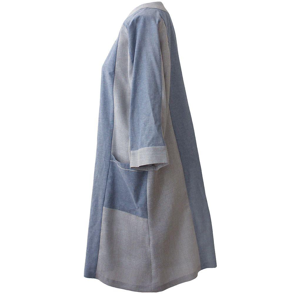 مانتو زنانه درس ایگو کد 1100003 رنگ آبی -  - 2