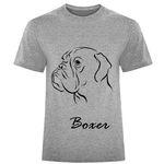 تیشرت آستین کوتاه مردانه طرح سگ Boxer کد F313