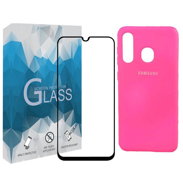 کاورمدل SLCN_02 مناسب برای گوشی موبایل سامسونگ Galaxy A30 به همراه محافظ صفحه نمایش