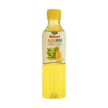 نوشیدنی میوه ای رکسوس با طعم آناناس و تکه های آلوئه ورا - 330 میلی لیتر
