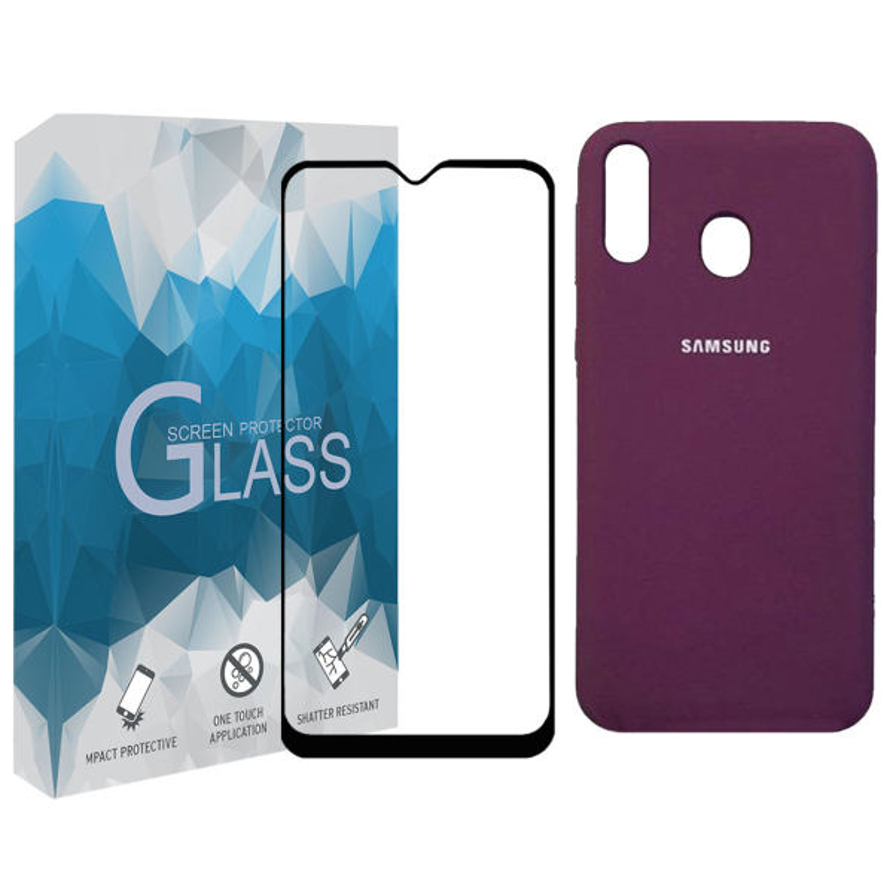 کاورمدل SLCN_02 مناسب برای گوشی موبایل سامسونگ Galaxy A20s به همراه محافظ صفحه نمایش