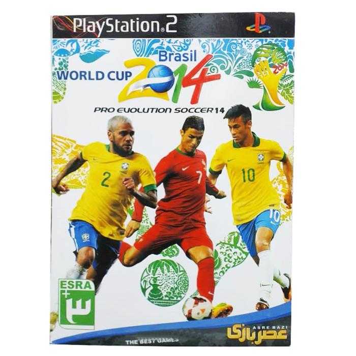 خرید اینترنتی بازی WORLD CUP 2014 BRASIL PRO EVOLUTION SOCCER14 مخصوص PS2 اورجینال