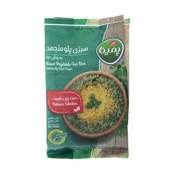 سبزی پلو منجمد پمینا مقدار 400 گرم
