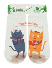 جوراب نوزاد کاتامینو طرح گربه های عاشق  -  - 1