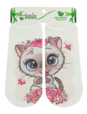جوراب نوزاد کاتامینو طرح گربه مهربون  -  - 1