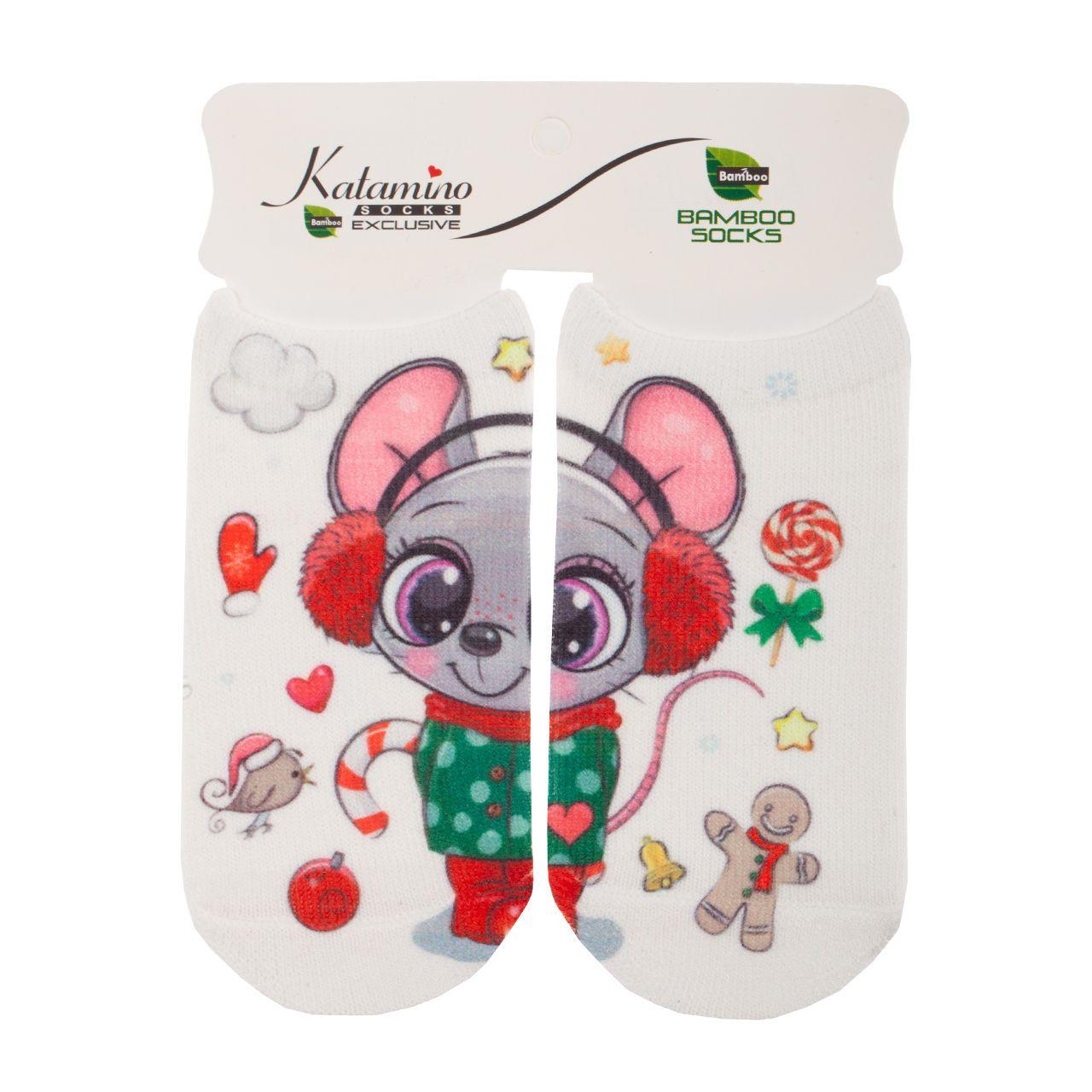 جوراب نوزادی کاتامینو طرح موش سرمایی -  - 1