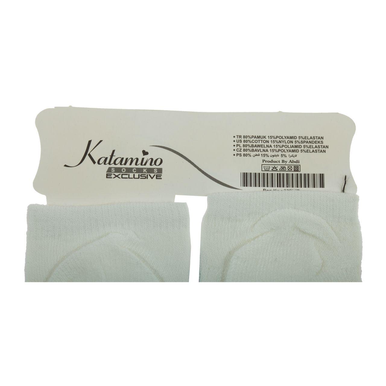 جوراب نوزاد کاتامینو طرح گربه ملوس  -  - 1