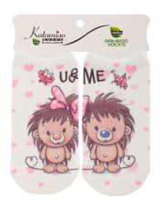 جوراب نوزاد کاتامینو طرح جوجه تیغی عاشق  -  - 1