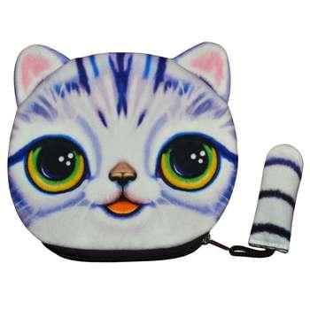 کیف پول دخترانه طرح گربه مدل C-12BL