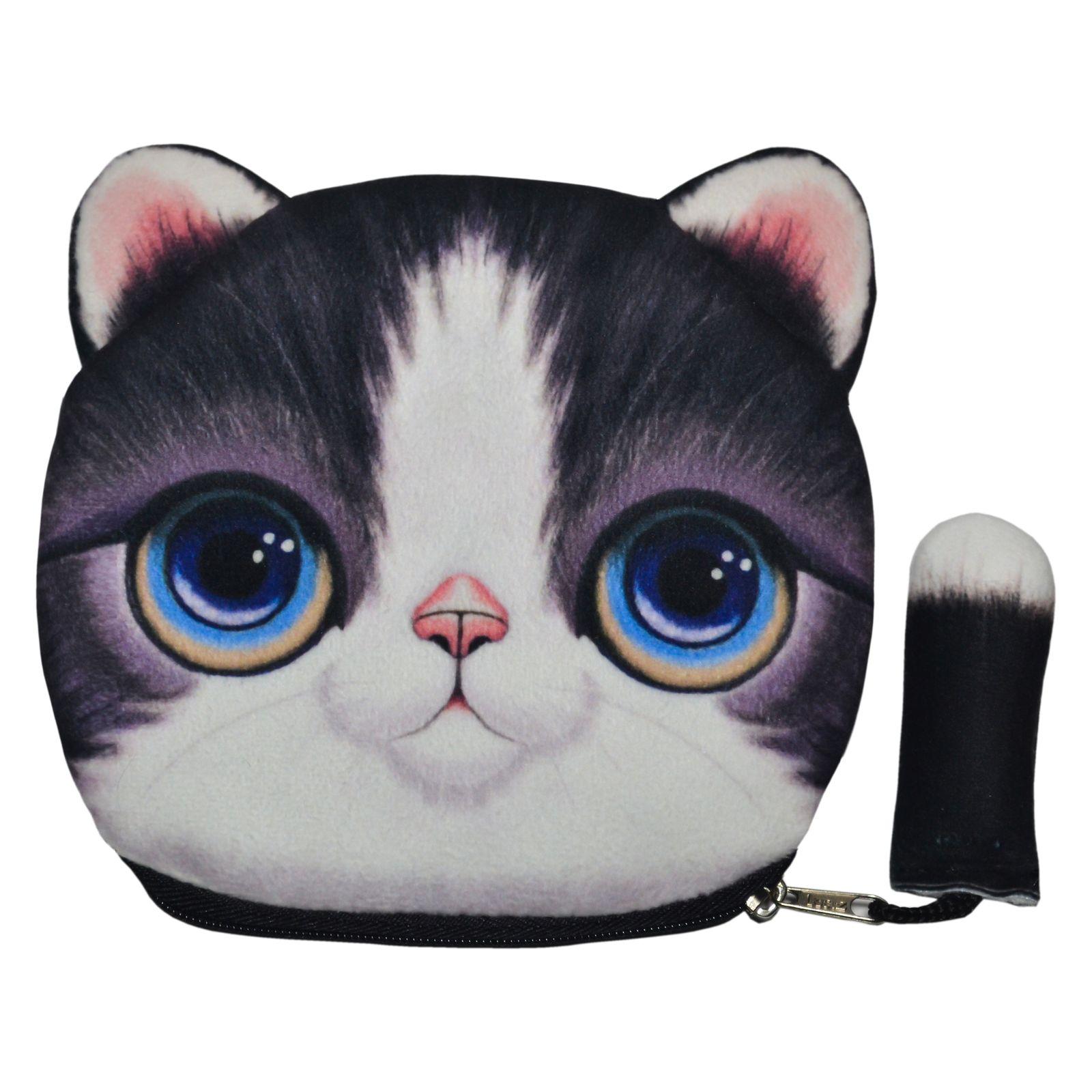 کیف پول دخترانه طرح گربه مدل C-13BK -  - 2