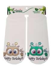 جوراب دخترانه کاتامینو طرح جغدهای شاد  -  - 1