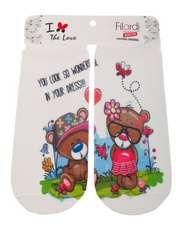 جوراب دخترانه فیلاردی طرح خرس عینکی  -  - 1